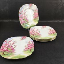 "1 Of 6 Royal Albert Blossom Time 6"" Bread Side Plates Vintage Bone China England"