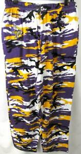 Minnesota Vikings Mens Large Embroidered Logo Camo Casual Active Pants AVIK 242