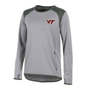 Virginia Tech Hokies NCAA Champion Women's (Grey) Athletic Tech Perf. Crew
