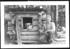 VINTAGE 1939 MONTANA FORESTRY COLLEGE STUDENT SHELTER MARBLE MOUNTAIN OLD PHOTO