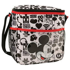 Disney Mickey Mouse Baby Mini Diaper Bag Bottle Lunch Tote Bag Black White NEW