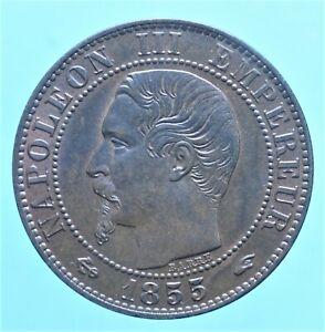 FRANCIA NAPOLEONE III 5 CENTIMES 1855 BRONZO COIN CURRENCY NUMISMATICA MONETE