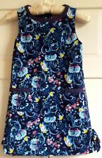 Lilly Pulitzer Girls Shift Dress Size 8 Corduroy Blue French Country Thistle