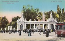 # TORINO: ESPOSIZIONE 1911 - LA FOLLA ALL'ENTRATA - con Tram linea Valentino