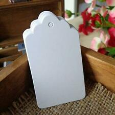 Large Gift Tags, 100 Pcs White Hang With Nylon String, Blank Marking Paper Price
