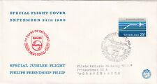 (40233) Netherlands Cover Philips Jubilee Flight 1966