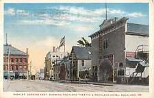 Rockland Maine Hotel And Theatre Street View Antique Postcard K34855