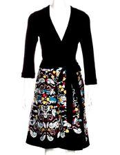 $548 NWT DIANE VON FURSTENBERG JEWEL BALLET RUSSE SILK COMBO WRAP DRESS 8 10