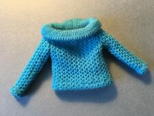 """Vintage """"Barbie"""" #1648 Photo Fashion Turquoise Sweater Only"""