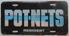 1990's POT-NETS RESIDENT BOOSTER License Plate