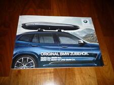 BMW 3 und 4 und X3 und X4 und Z4 Zubehör Prospekt 11/2017
