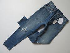 bf959dec Levi's 501 SKINNY Selvedge Jeans Size 27x28 White Oak Cone Denim Blue  Button Fly