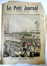 >Le petit Journal 21/5/1892 Débarquement à Kotonou/ Palais de L'industrie