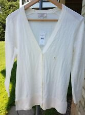 Loft Outlet women off-white long sleeve cardigan new with tag size small