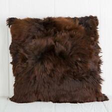 "20"" x 20"" brown baby  Alpaca fur pillow cushion cover  one side handmade in Peru"
