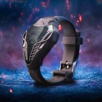 Herren LED Digital beobachten Dreieck Dial Silikon Unternehmen Armbanduhr Neu.