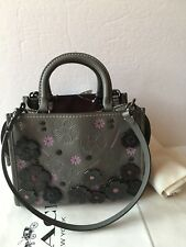 NWT Coach 58840 Heather Gray 1941 Rogue 25 with Tea Rose, MSRP $895