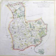 1778 HASTED KENT Map HUNDREDS of WESTERHAM EATON BRIDGE SOMERDEN BRASTED Hever