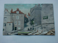 King Street Robin Hood's Bay 1906 Vintage Animated Postcard Fishing Boats Hotel'