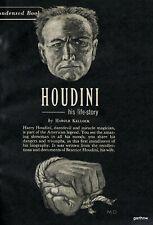 HARRY HOUDINI 1946 HIS LIFE STORY TWO-PART BOOK FEATURE HAROLD KELLOCK * MAGIC