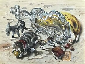"""""""Bremen Town Musicians (Brothers Grimm),"""" Aaron Bohrod Whimsical Still Life"""