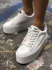 Windsor Smith Seoul White Leather Platform Size 6