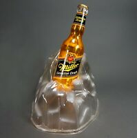 Rare Vintage Miller Genuine Draft Beer Bottle in Ice Lighted Sign - Excellent!