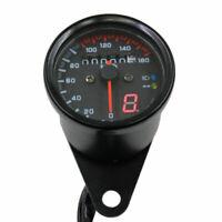 12V LED numérique Jauge de compteur kilométrique double km / h Pour Honda Yamaha