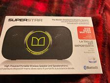 Monster Power Superstar Bluetooth Wireless Speaker - High Definition Black/Green