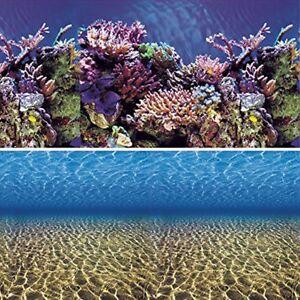 Vepotek Aquarium Background Ocean Seabed /Coral Reef Double sides (Fresh & Salt)