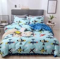 3D Cartoon Airplane ZHUA744 Bed Pillowcases Quilt Duvet Cover Set Queen King Zoe