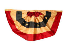 "Tea Stained Patriotic Bunting USA 72"" x 36"" Briarwood Lane"