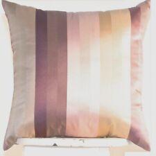 SET OF 2 purple beige stripe throw pillow covers 18'' Textured Silk Toss Cushion