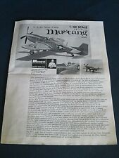 Vintage Monogram Kit PA77 USAF F-51D Mustang 1967 INSTRUCTION SHEET
