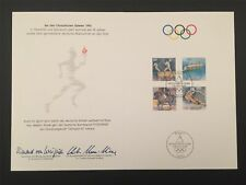 GERMANY OFFICIAL BOOKLET 1992 OLYMPIC GAMES OLYMPICS RIDING FENCING u351