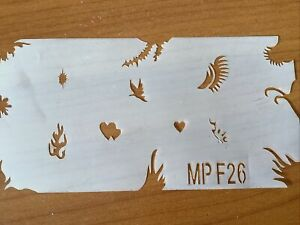 AIRBRUSH STENCILS TEMPLATE NEW BUT WITHOUT PACKAGING MP F26