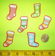 New! Cool!Christmas Stockings Iron-on Fabric Appliques ~ Iron ons