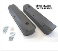 Ford SB 289 302 351 Fabricated Tall Alum Valve Covers Black Powdercoat SHARP