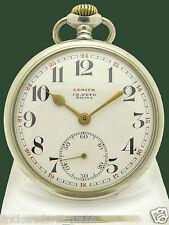 Zenith reloj de bolsillo 48,5mm Grand Prix parís 1900 hermoso 24 std email hoja