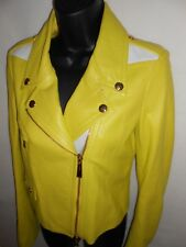 New Just Cavalli 100% lambskin leather jacket, Lime RRP £699