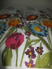 Cynthia Rowley Designer NY Fiorina Shower Curtain NWOT Bright Colors Floral