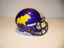 CUSTOM BATGIRL(YVONNE CRAIG) RIDDELL SPEED MINI FOOTBALL HELMET