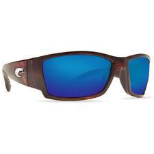New Costa Del Mar Corbina Polarized Sunglasses 400G Glass Tortoise/Blue Mirror