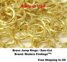 BRASS JUMP RING 12 GA WIRE 13 MM I/D Pkg Of 22 - 1 oz   BRIGHT Solid Brass