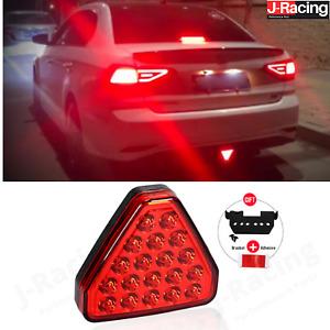 LED Red Rear Fog Light Lmap 12v Lamp F1 Triangle Style Sport for JDM Cars Car