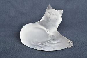 LALIQUE HAPPY CAT, BOXED, 1179500