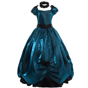 Women Dress Ball Gown Party Cocktail Dress Costume Victorian With Petticoat