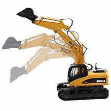 HuiNa Toys 1550 15 Channel 1/12RC 2.4GA Metal Excavator RC Charging Bulldozer