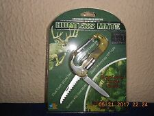 American Outdoors Hunters Mate 4n1 Carabiner Saw, Led light and Knife