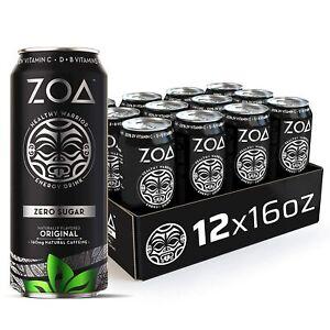 ZOA, Zero Sugar Energy Drink, Original, 16 fl. oz. (Pack of 12) - Supports Healt